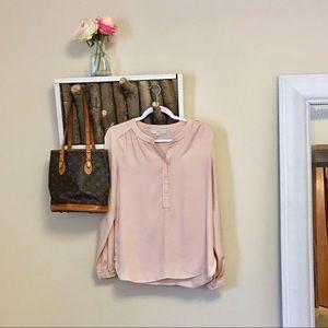 Light nude/cream long sleeve blouse